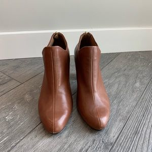 Aerosoles Dark Tan Leather Booties